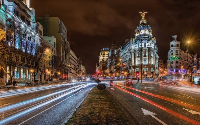 Night Tour of Madrid and Gran Vía Casino Admission