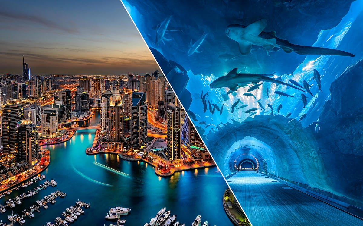 dubai city tour, aquarium & burj khalifa tickets combo-1