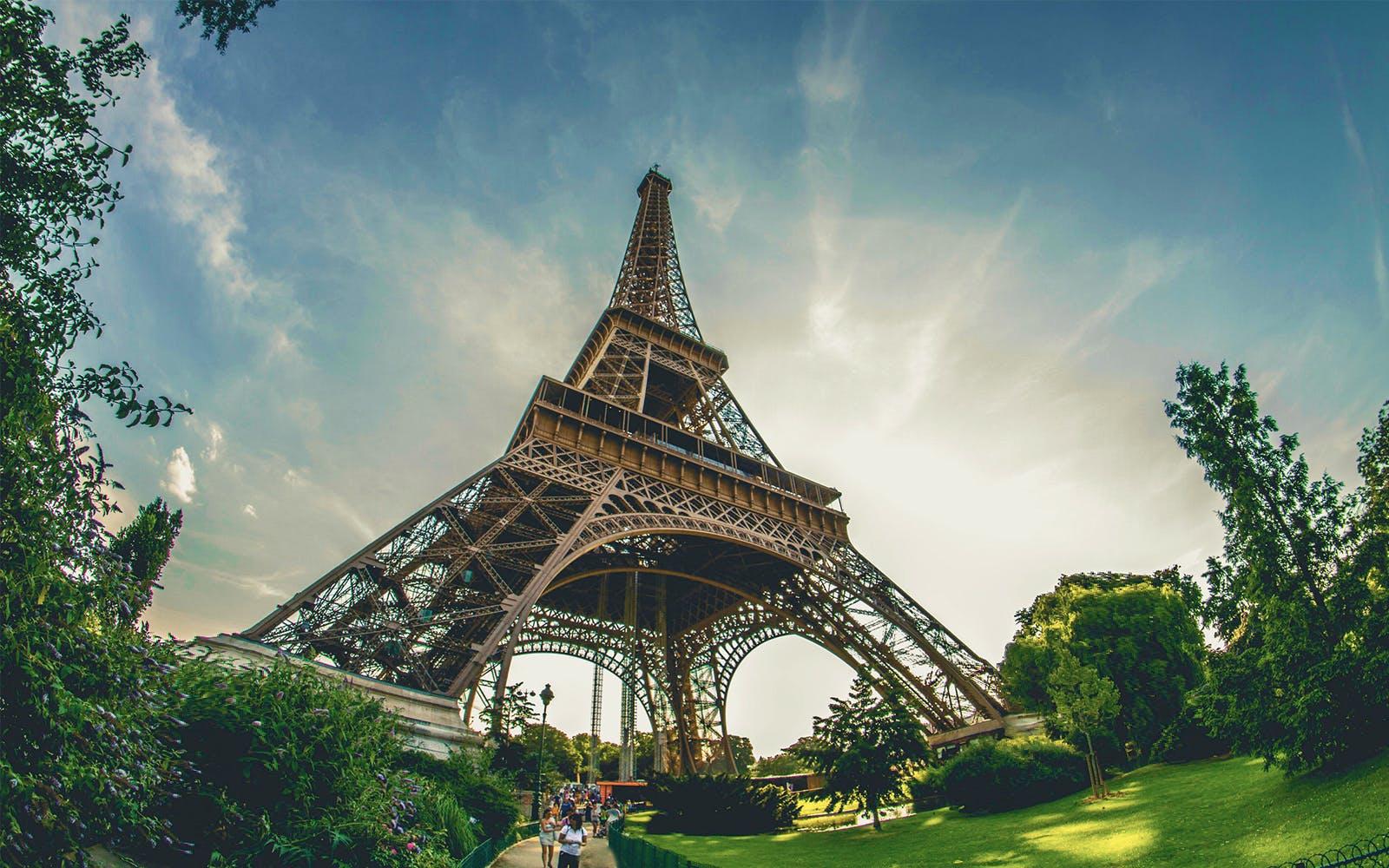 paris in august - eiffel tower