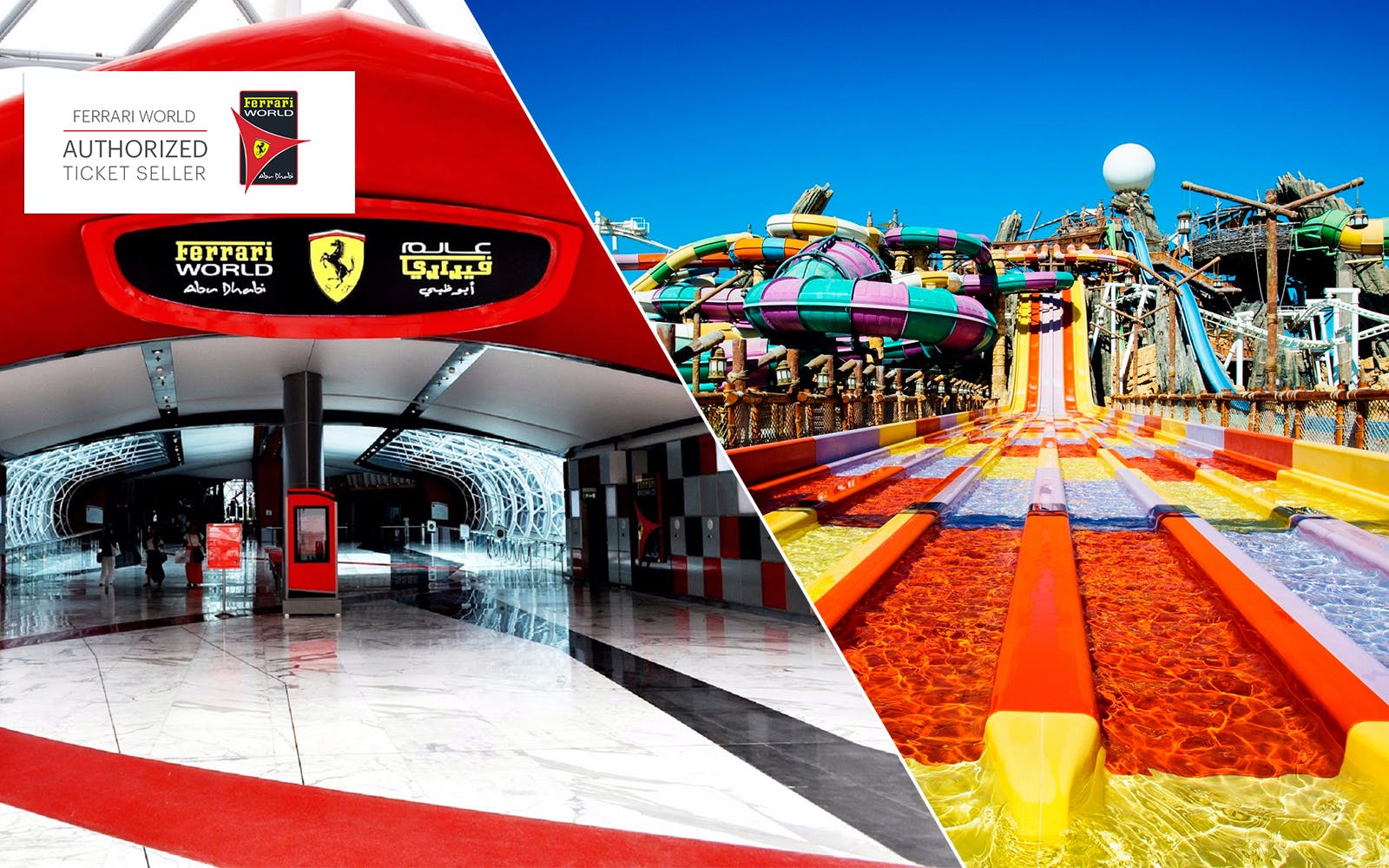 Ferrari World and Yas Waterworld One Day Pass