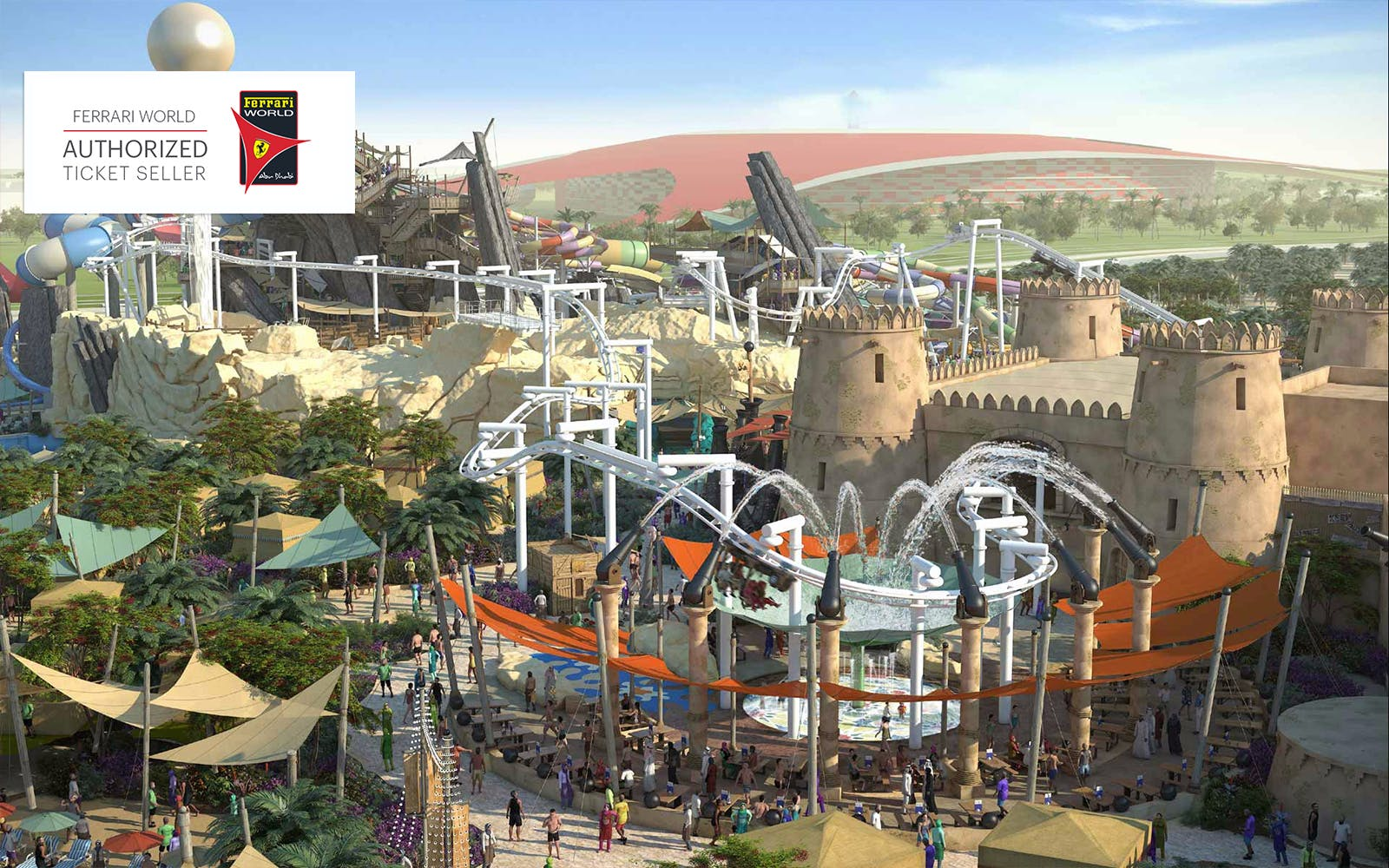 ferrari world and yas waterworld bronze pass -2