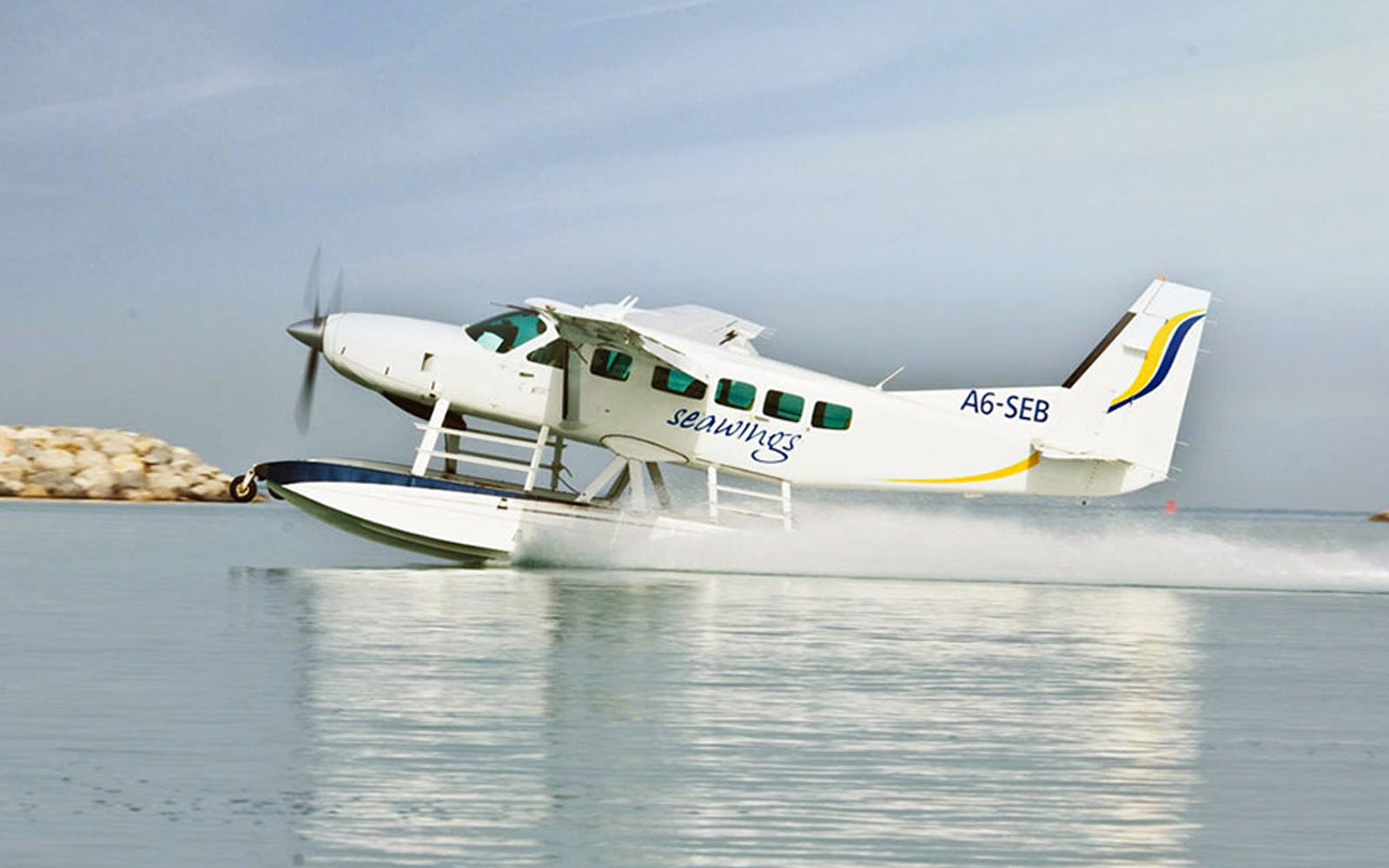 Seawings Seaplane Tour from Dubai to Abu Dhabi with Ferrari World