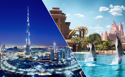 Aquaventure Waterpark & Dubai City Tour Combo