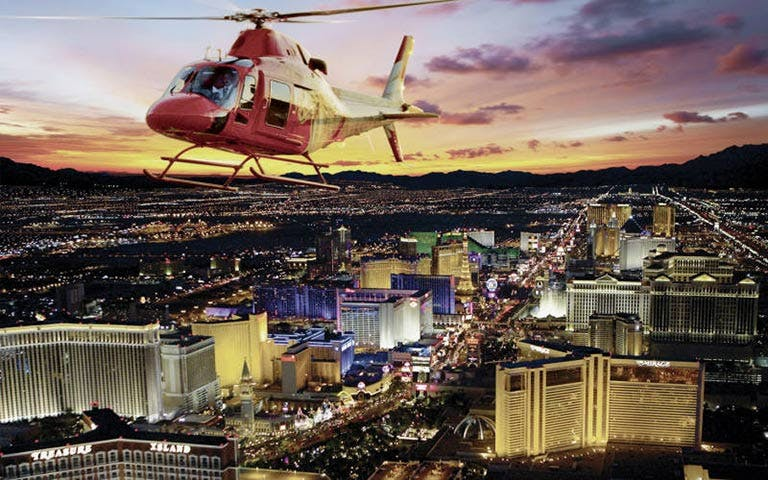evening helicopter tour of the strip-1