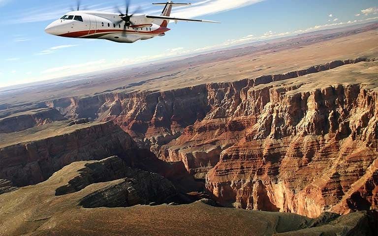 grand canyon west rim airplane tour-3